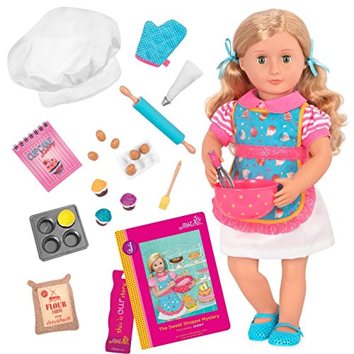 Our Generation Doll by Battat- Jenny 18' Deluxe Posable Baking Fashion Doll- for Girls Aged 3 Years & Up