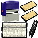 JIACUO DIY Kit de Sello de Goma entintado Personalizado Nombre Comercial Personalizado Dirección