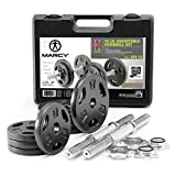 Marcy Adjustable Cast Iron Dumbbell Set with Case,...