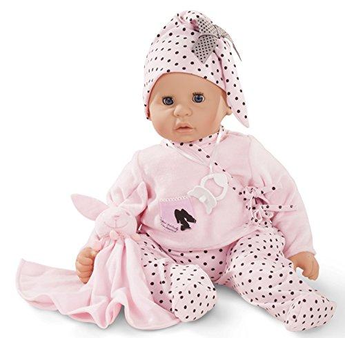 Götz 1661045 Cookie Ladies & Spots Puppe - 48 cm große Babypuppe mit blauen Schlafaugen, ohne Haare, einem Weichkörper - 6-teiliges Set