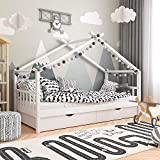 Babify Homy - Cama Infantil - Cama para niños 200 x 90 cm - Cajones opcionales