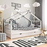 Babify Homy - Cama Infantil - Cama para niños 200 x 90 cm - Cajones incluidos