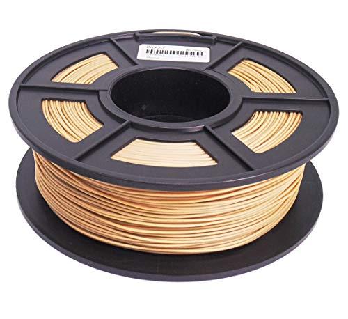 SUNLU Stampante 3D, filamento PLA, 1,75 mm, 1 kg, tolleranza 0,02 mm, ottima qualità, oro, 1