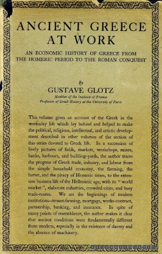 Ancient Greece at Work: An Economic History of Greece