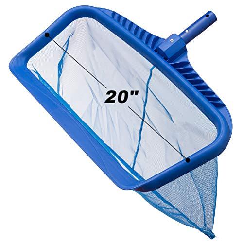 EXPAWLORER Pool Leaf Skimmer Net Rake - Swimming Pool Cleaning Tool with Heavy-Duty Frames & Sturdy Mesh Nets
