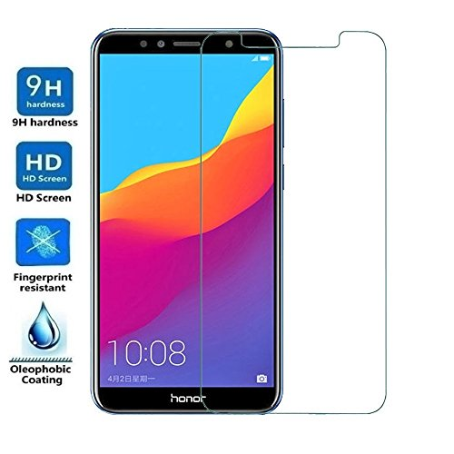 REY Protector de Pantalla para Huawei Honor 7A, Cristal Vidrio Templado Premium