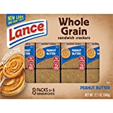 Lance Sandwich Crackers, Whole Grain with Peanut Butter, 8 Count (Pack of 14)
