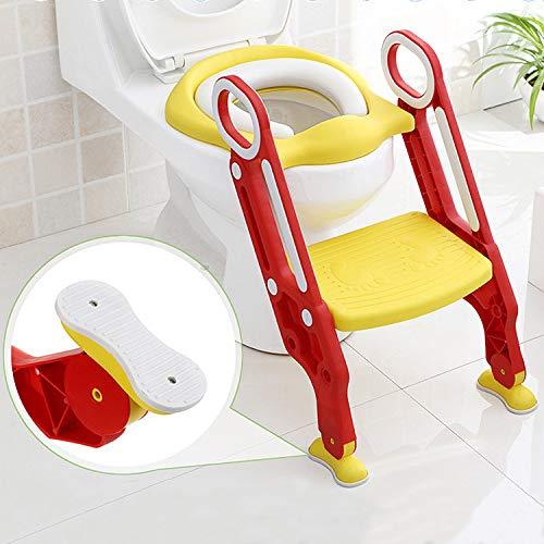 Aseo Escalera Asiento Escalera del tocador de niños Asiento para WC con...