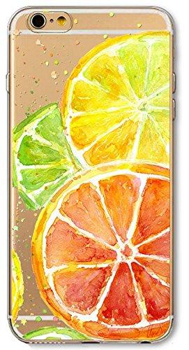 Carcasa y funda Casco Casco IPHONE 6 PLUS IPHONE 6S PLUS naranja fruta resorte patrón de color naranja suave TPU silicona funda la caja cubierta de tierra CASE COVER