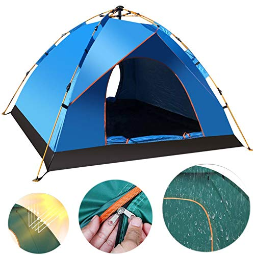 FNHS Lightweight Tent Waterproof Double Layer Dome Tent Outdoor Camping Hiking Tent for Climbing Fishing Anti-Mosquito Nsect-Proof Ventilation Waterproof Camping TentBlue-1~2 Person