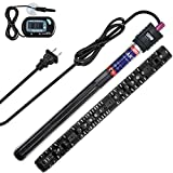 ZMS Submersible Aquarium Heater with Intelligent LED Temperature Display Fish Tank Heater with Quartz Shell to Prevent Explosion External Internal Dual Temperature Control (300W)