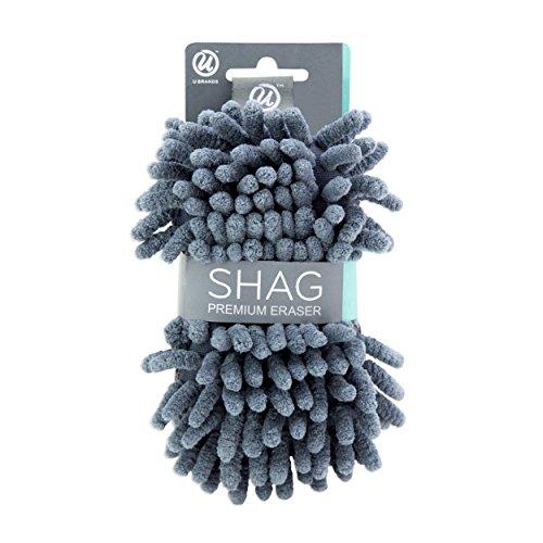 U Brands Microfiber Shag Dry Erase Board Eraser, Washable, 1 Pack (582U04-16), Regular Size
