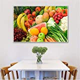 KWzEQ Imprimir en Lienzo Póster de Arte de Pared Gourmet y fotografías para Sala de estar30x45cmPintura sin Marco