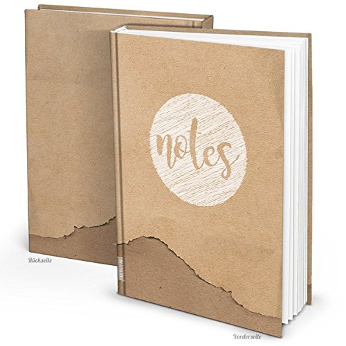 Blanko Notizbuch in Kraftpapier-Optik (Hardcover A4, Blankoseiten): Notizbuch für Gefühle, Ideen und Erlebnisse - ideal als Bullet Journal