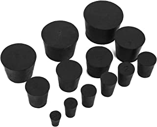 22 Pack (13 Assorted Sizes) 000# -10# Solid Rubber Stoppers