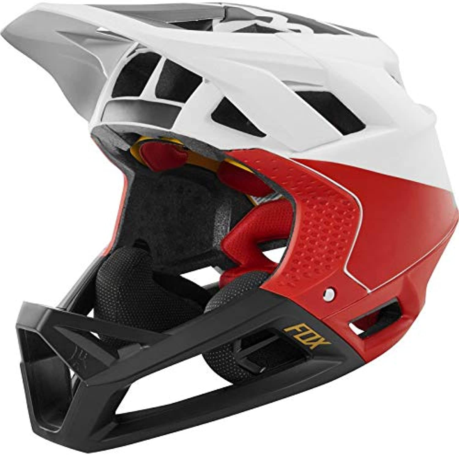 Fox Proframe Pistol Bike Helmet White Black Red