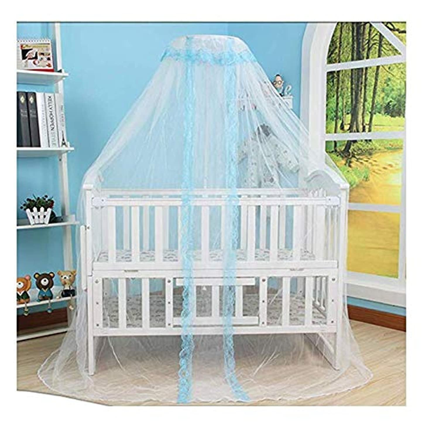 MMMMM Mosquito Net, Round Lace Curtain Dome Bed Canopy Netting, Princess Baby Toddler Crib,2 gmanoveayzd3