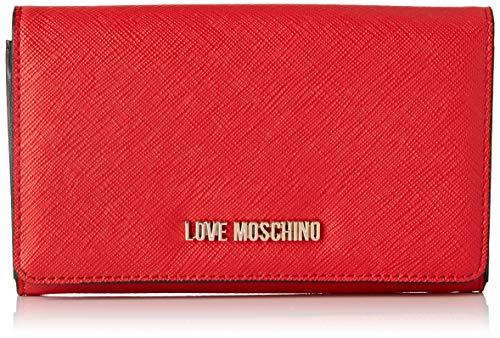 Love Moschino Pu, Portafoglio Donna, Rosso (Rosso), 15x10x15 cm (W x H x L)