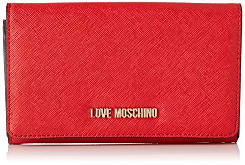 Love Moschino PU, Cartera. para Mujer, Rojo (Rosso), 15x10x15 Centimeters...