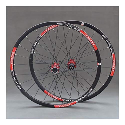 ZCXBHD Juego Ruedas MTB for Bicicleta montaña 26 27.5 24 Hoyos Doble...