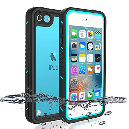 iPod 5 iPod 6 iPod 7 Waterproof Case, Re-Sport Shockproof Dirtproof Snowproof Full-Body Protective Case Cover Built-in Screen Protector Compatible iPod Touch 5th/6th/7th (Blue)