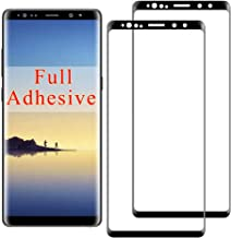 2-Pack Note 8 Screen Protector Compatible with Samsung Galaxy Note8 Tempered Glass 3D Curved HD Clear Coverage Sam Samsong Galxy N8 Protective Armored Film Full Adhesive Glue (Black)