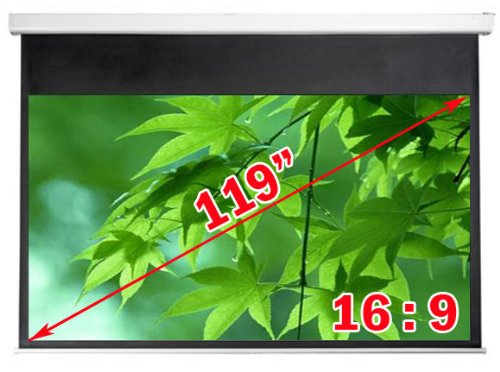 Antra Electric Motorized 119' 16:9 Projector Projection Screen Matte White