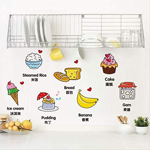 Fruit voedsel muur Stickers winkel restaurant zelfklevende verf decoratieve tegels koelkast Stickers