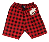 Lazy One Pajama Shorts for Men, Men's Separate Bottoms, Cotton Loungewear, Animal (Moose Plaid, X-Large)