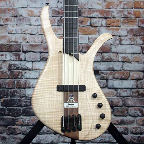 Ibanez AFR4FMP Natural Flat Elektrische Bassgitarre, 4 Saiten