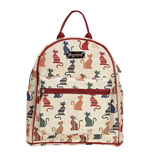 Signare Tapestry Arazzo zaino donna, zainetto donna, zaini da donna, borsa zaino donna con Disegni di Animali (Gatto sfacciato)