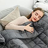 """Fabula Life Adult Weighted Blanket(12lbs, 72""""x48"""", Twin Size), Heavy Blanket with Premium Breathable Cotton and Micro Glass Beads, Calm Deep Sleep"""