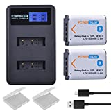 PowerTrust NP-BX1 2 Pack Batteries and LCD Dual USB Charger for Sony CyberShot DSC-RX100 V, DSC-RX100, DSC-WX500, HX300, WX300, H400, HX300, HX50V, HX90V, WX300, WX350, Digital Camera