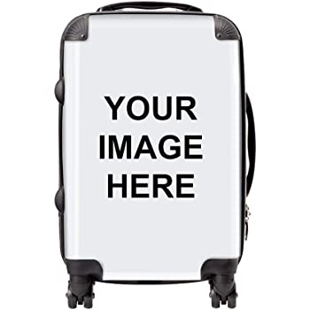 Personalised Suitcase | Customised Cabin Bag with Your own Photo or Design | Personalise Luggage Now with Your uploaded Image | 58 x 34 x 23cm
