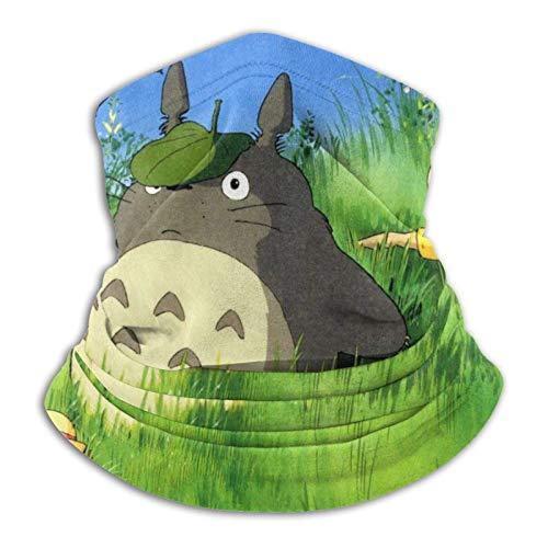 MoBetter My Neighbor Totoro Gorros multifuncionales Corbatas elásticas para Exteriores Protección UV Transpirable Calentador Facial Pulsera para Todo el año Negro