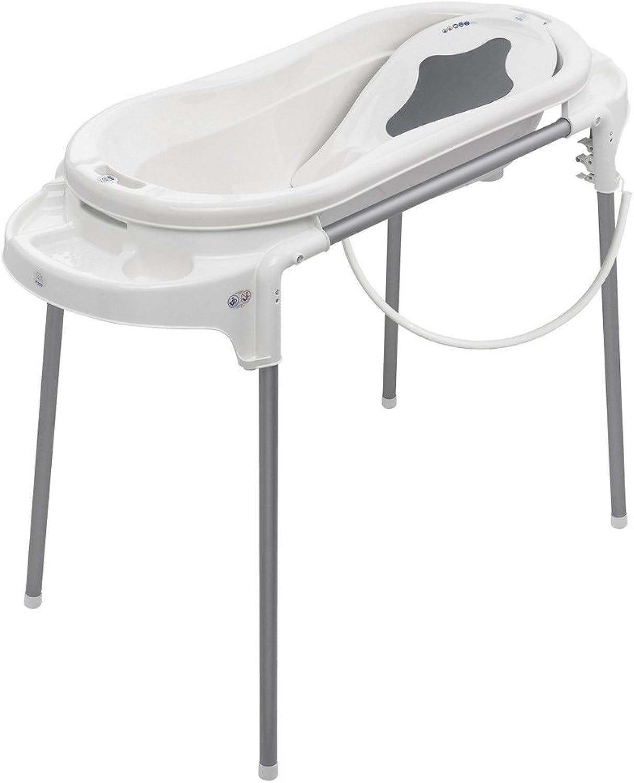 Rotho Rotho Rotho Babydesign Badeset mit großer Wanne und Funktionsständer, Ideal für 2 Kinder, 0-12 Monate, Weiß, Top Xtra Badestation, 21041000101 B00SN9CTBI 67e903
