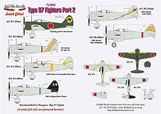Lifelike 1/72 Scale Decal Nakajima Ki-27 Nate Pt 2 Hasegawa Type 97 Fighter 72-035