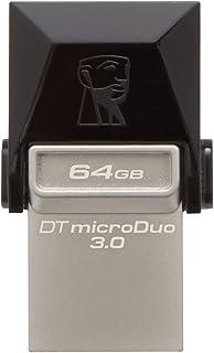 Kingston Digital 64Gb Data Traveler Micro Duo Usb 3.0 Micro Usb Otg (Dtduo3/64Gb) - Black