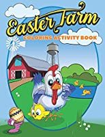 Easter Farm Coloring Activity Book: Cute Farm Animals and Easter egg Illustrations for Children to colour and cut out - Fun Easter Activity Book for Kids