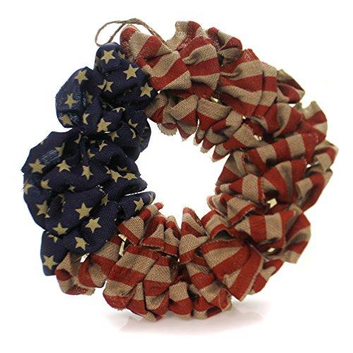 Burton & Burton Patriotische amerikanische Flagge Jute Kranz–50,8cm