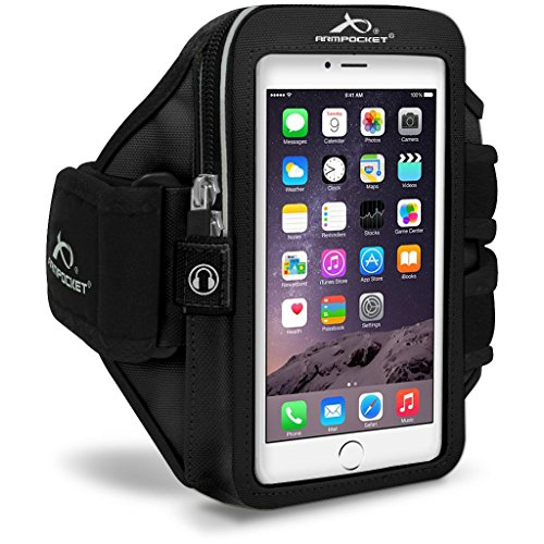 Armpocket Mega i-40 Plus Sweat and Weather Proof Armband, Black, Small Strap for iPhone Xs...