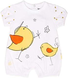 BABY-BOL - Camiseta bebé Manga Corta Pollitos bebé-niños