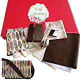 Messenger Bag Making Craft Kit Gift Set, Detailed Instructions Included, Fabric and Hardware. A Great Project for Teen/Adult Sewing Enthusiast, producing a Surfboard/Brown Shoulder or Cross Body Bag.