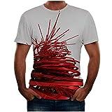 WINJIN T-Shirt Homme Top Manche Courte Haut Humour Top Imprimé 3D T-Shirt Musculation Chemise Slim Fit Haut Pas Cher T-Shirt Homme Grande Taille Chemise Hawaïenne Casual Haut Plage pour Été