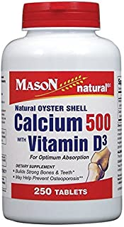 Mason natural oyster shell calcium 500 mg tablets with vitamin D3 - 250 ea