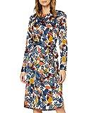 Seidensticker Damen Langarm Print Kleid, Birch, 40 EU