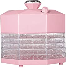 Food Dehydrator - Food Dryer 5 Layer Trays 360° Drying Mechanical Adjustment Temperature Pink