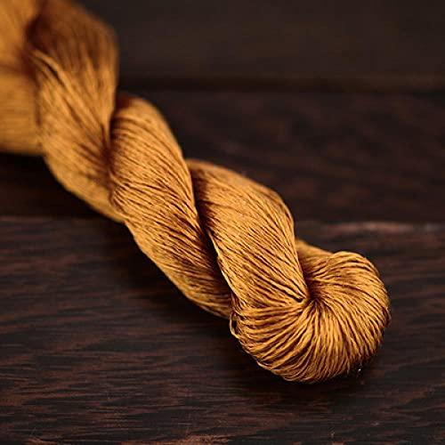 Nuevo bordado de seda de 400 m / hilo de seda 100% / hilo de seda bordado de Spiraea bordado a mano bordado de punto de cruz-27-8