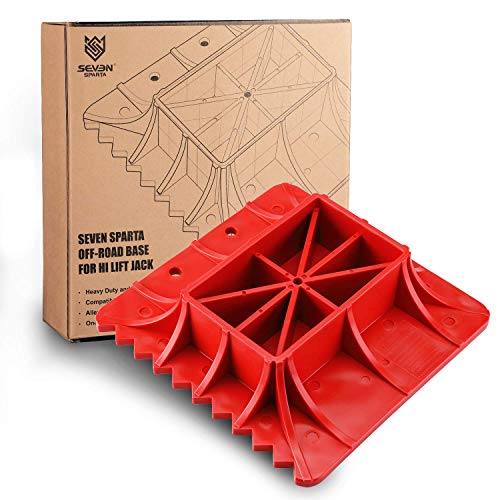 Seven Sparta Off-Road Base Compatible with Hi Lift Jack PP Pad to Alleviate Jack Hoisting Sinkage (Red)