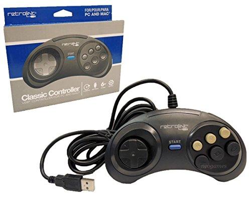 Reaowazo Sega Genesis Classic USB Controller for PC and Mac